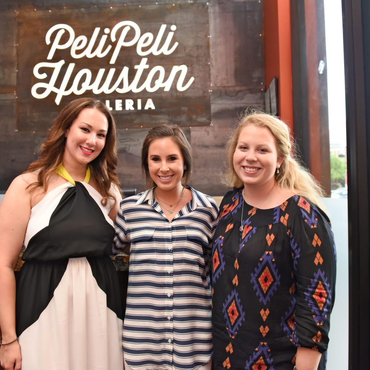 Houston, George Springer Bowling Benefit Kick Off, June 2015, Alexandra Gintoli, Abby Clarke, Rachel Amalfitano