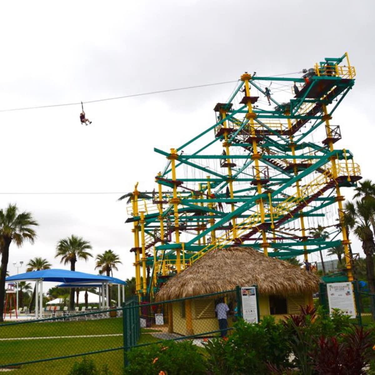Galveston Moody Gardens zip line