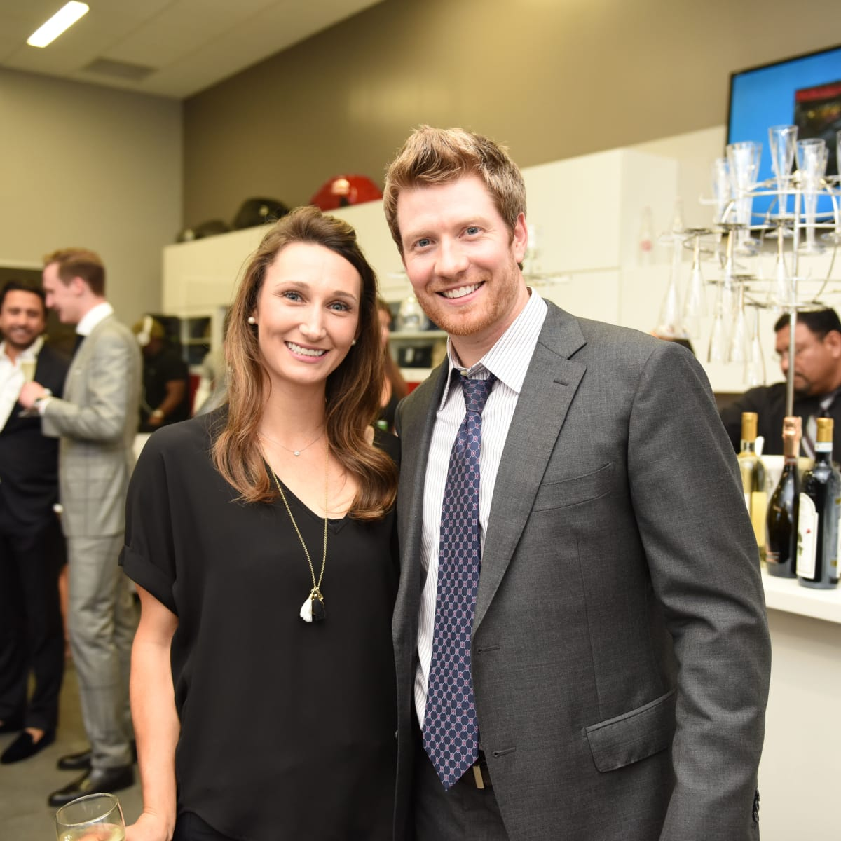 News, Shelby, Helfman Maserati opening, June 2015, Erin and Keith Ahrens