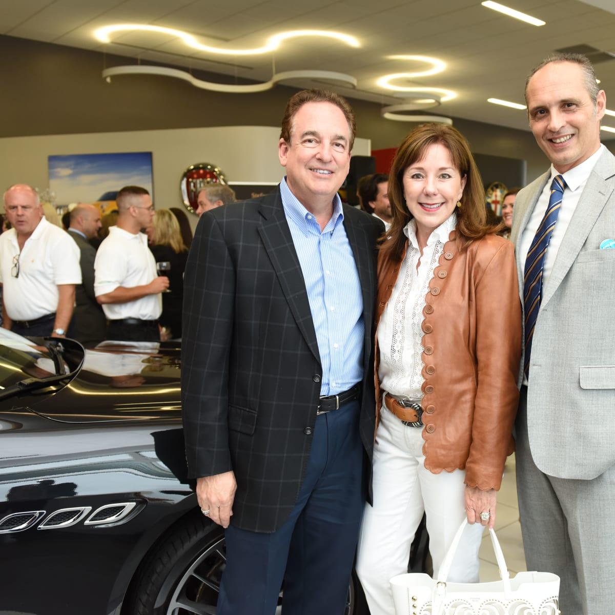 News, Shelby, Helfman Maserati opening, June 2015, Anne CarlAlan and Elizabeth Stein, Federico Farina