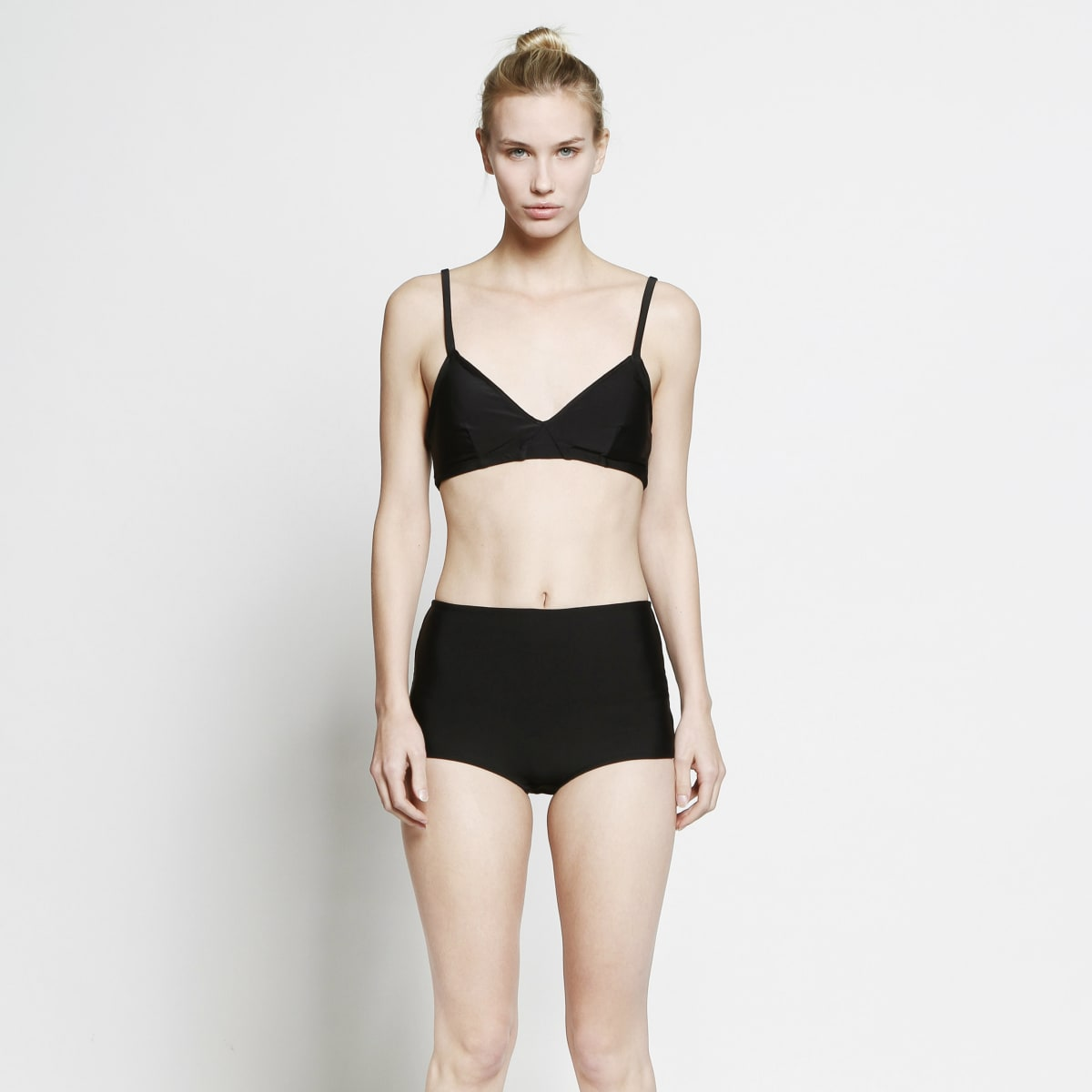 Cover bra top and high waisted bottom