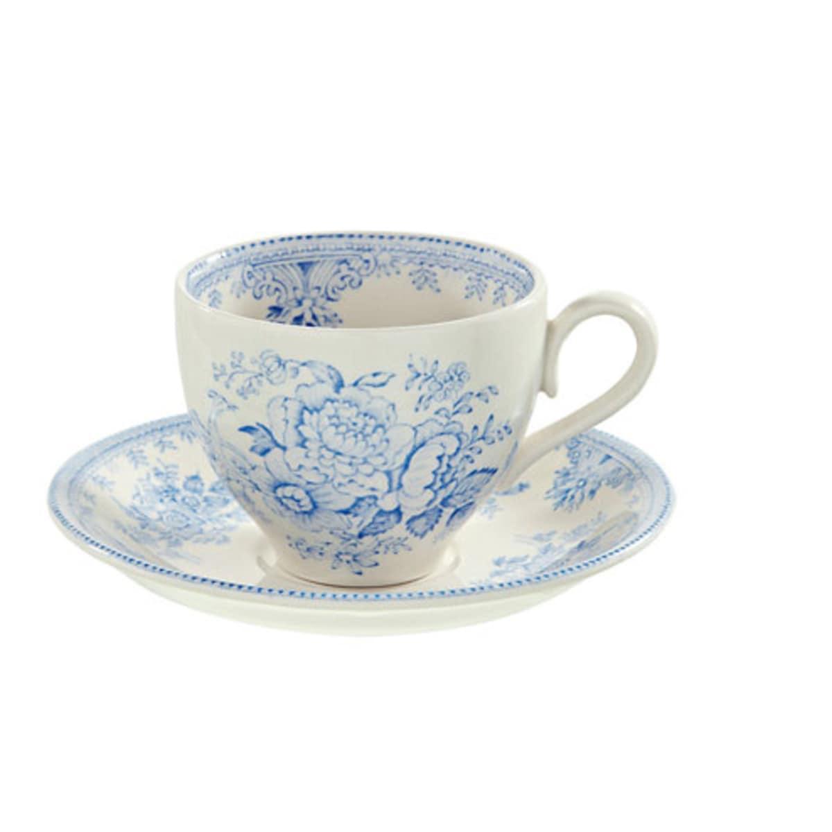 British Isles Burleigh Pottery teacup and saucer