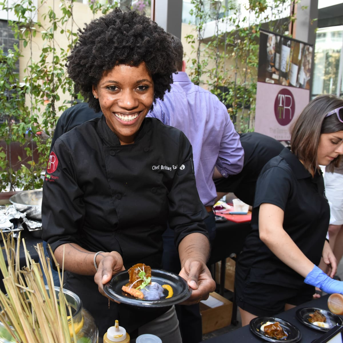 News, Shelby, Curry Crawl, June 2015, Chef Brittany Eaden.