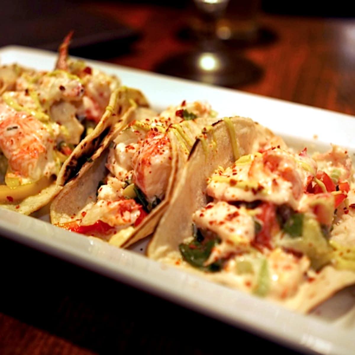 Jonathan's the Rub lobster tacos