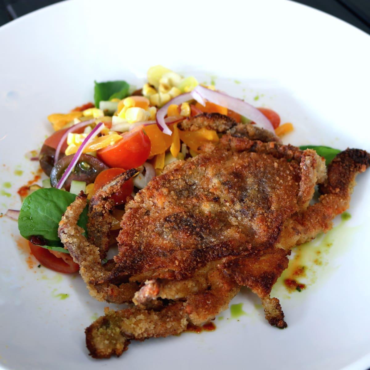 Houston, soft shell crab dishes, June 2017, Backstreet Cafe