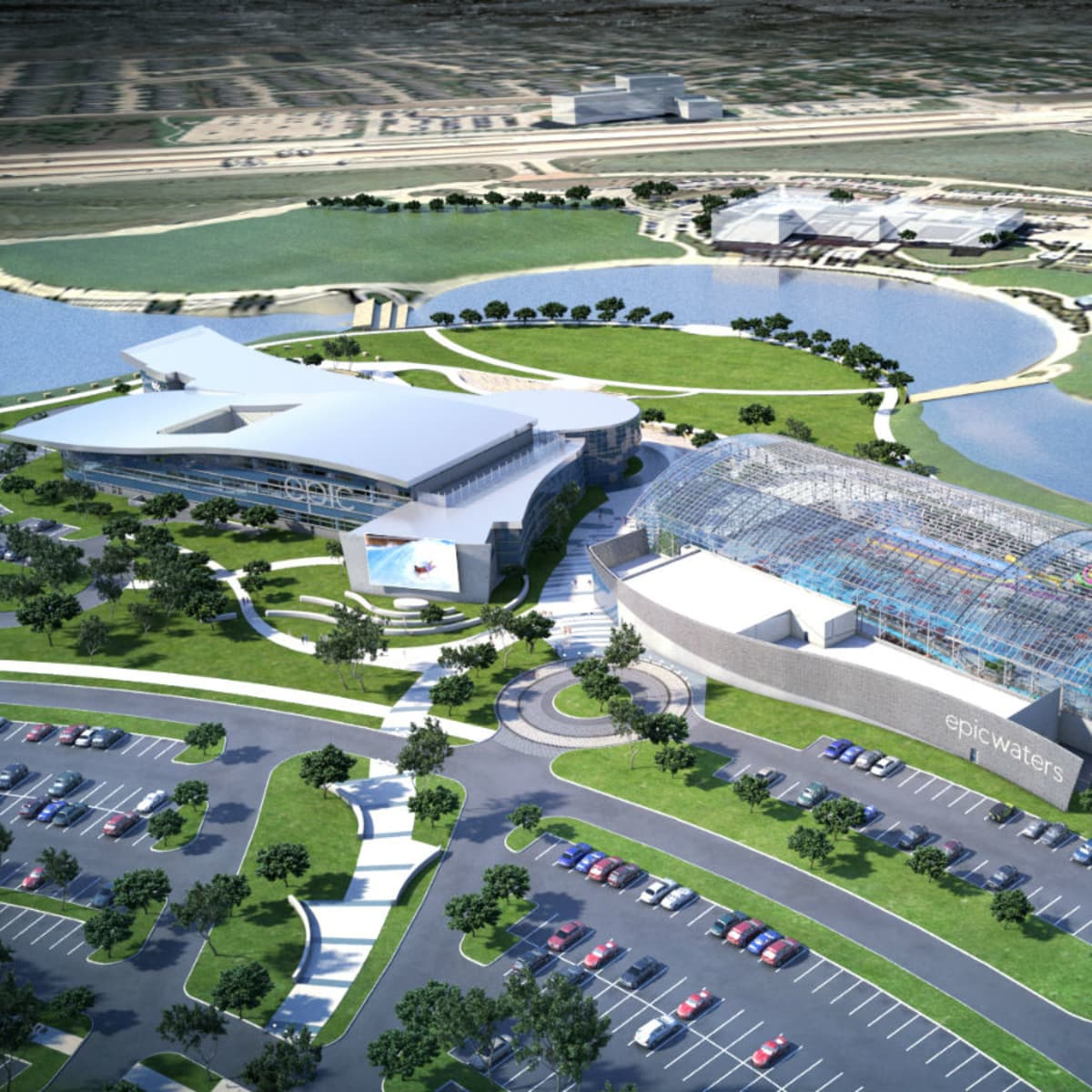 The Epic and Epic Waters Indoor Waterpark rendering
