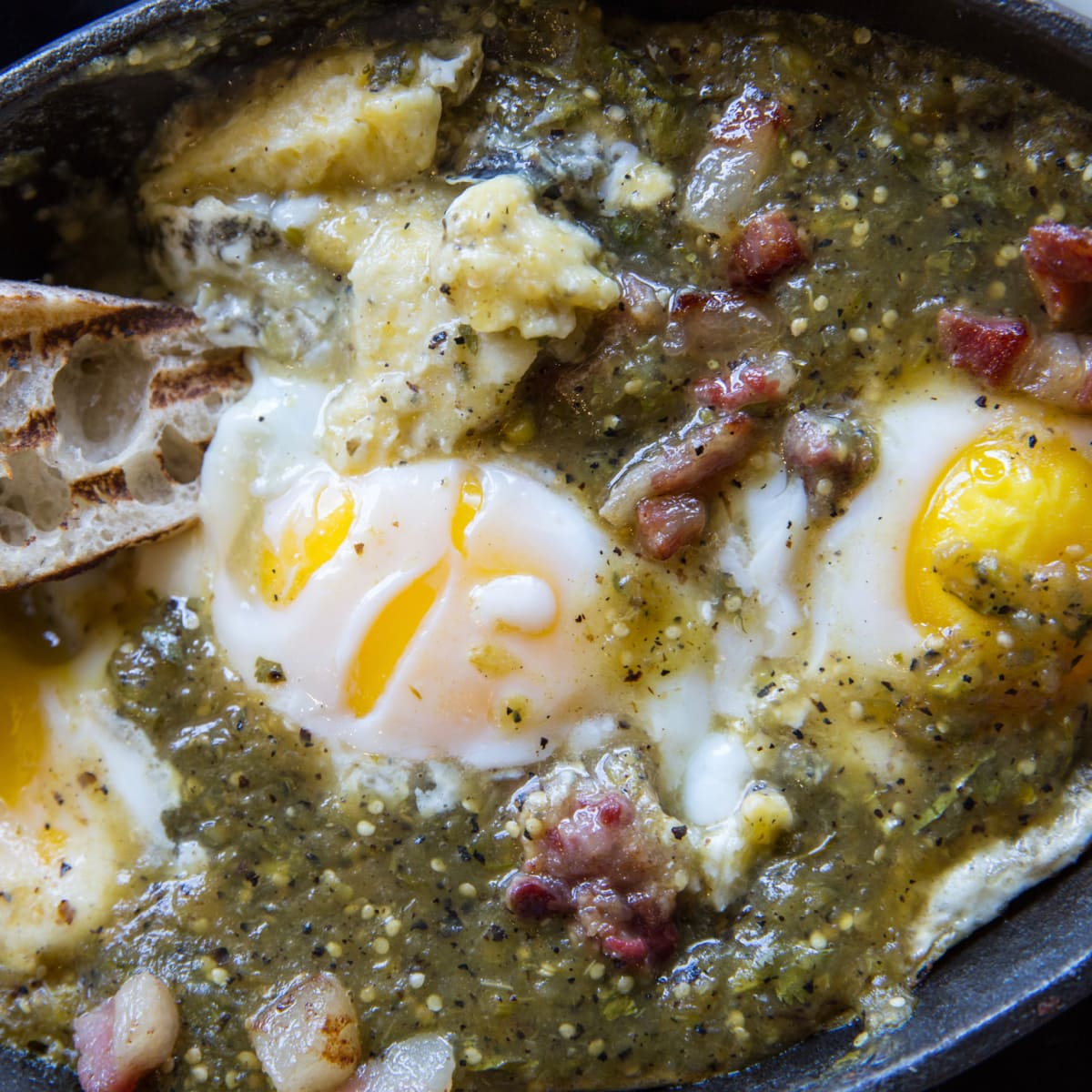 Cane Rosso brunch eggs in anguish