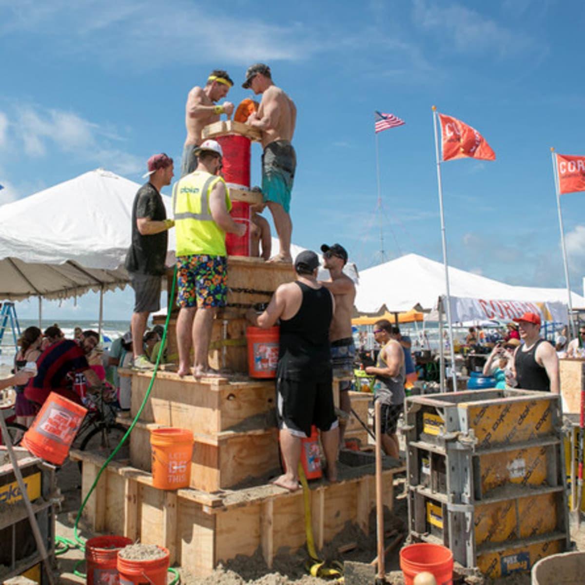 Houston, Houzz series, June 2017, Sandcastle contest, teams building sand castles