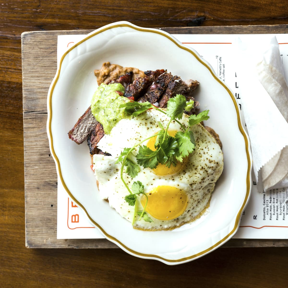 Houston, new brunches, July 2017, State of Grace, steak and eggs
