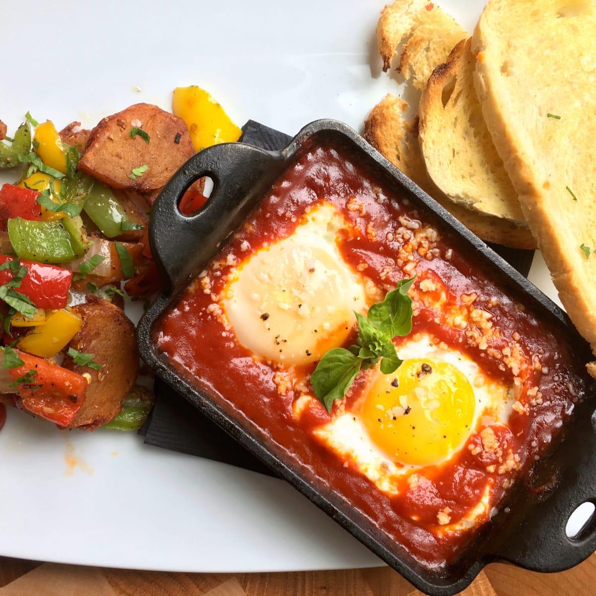 Houston, new brunches, July 2017, Osso and Kristalla, Eggs Pomodoro