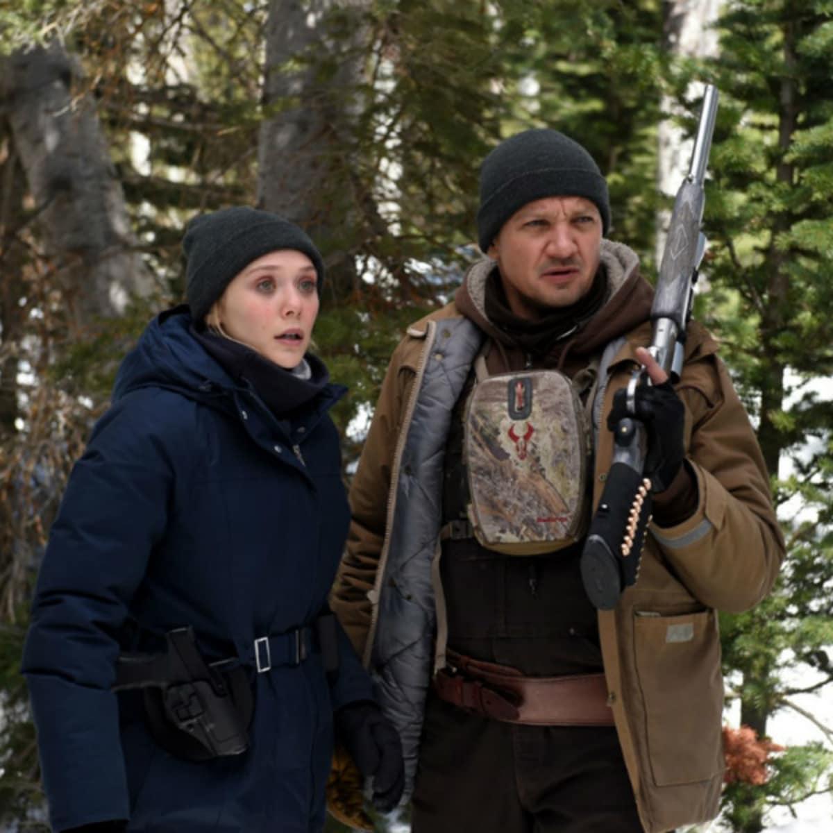Elizabeth Olsen and Jeremy Renner in Wind River
