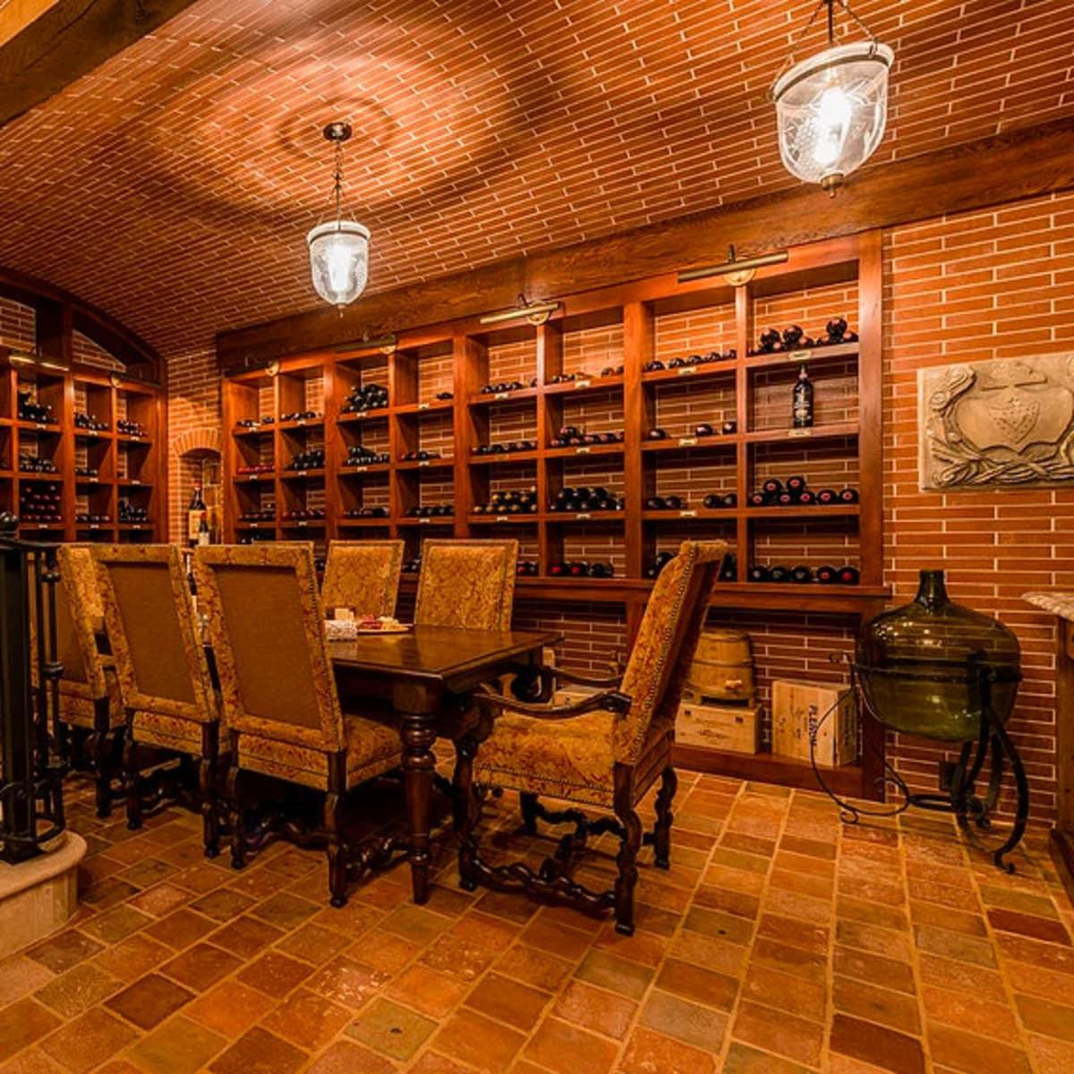 Mandola's estate in Austin wine cellar