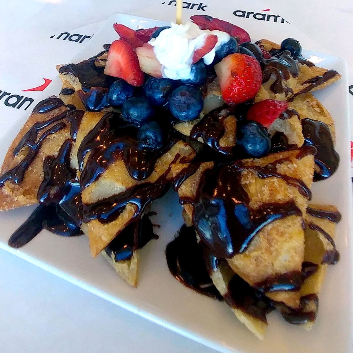 Houston, Texans whats new at NRG Stadium event, August 2017, dessert nachos