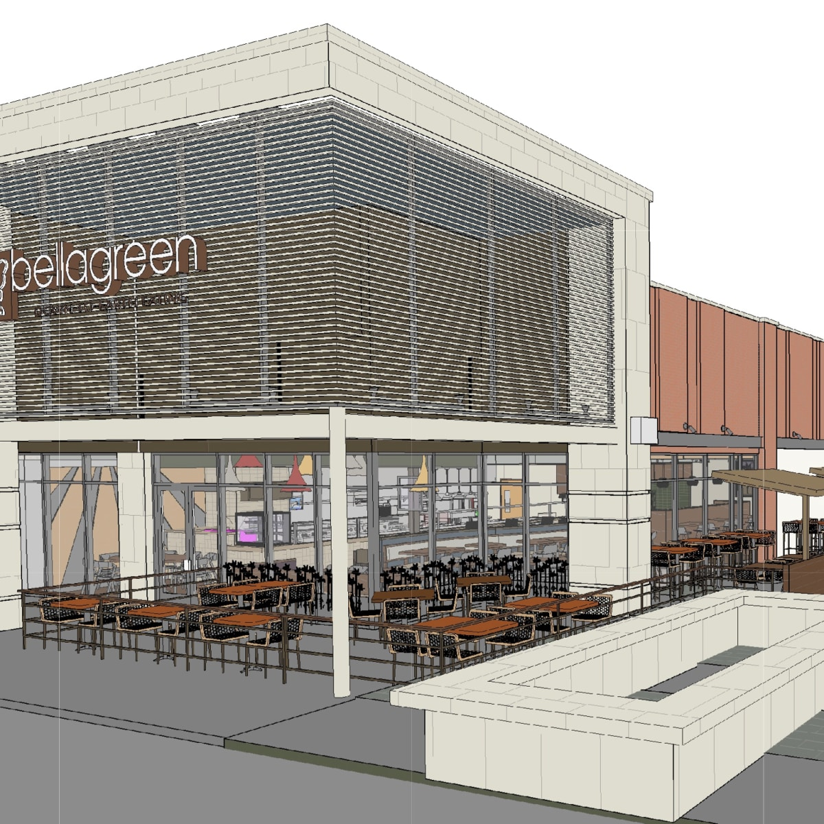 Bellagreen Vintage Market rendering