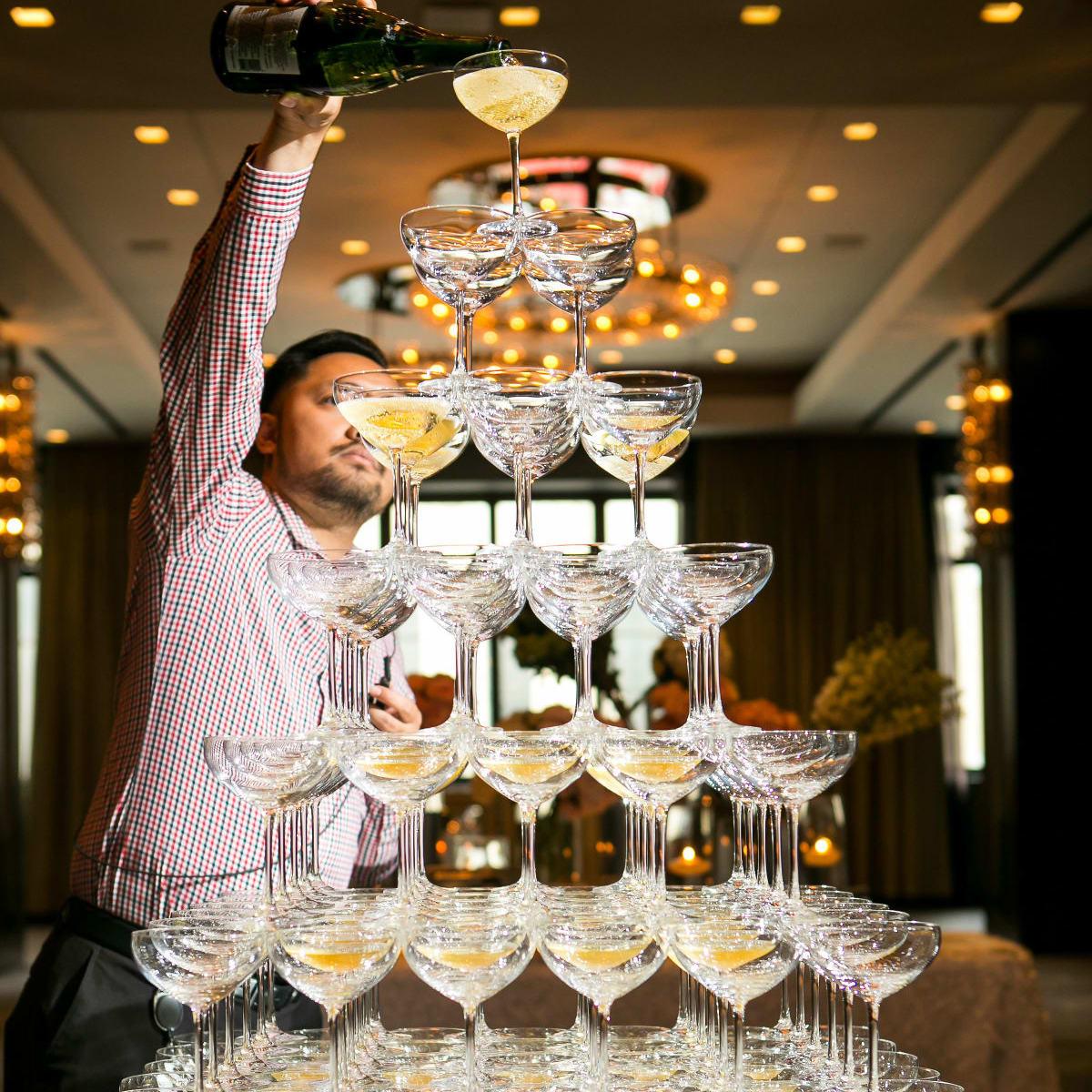 Aronson Wedding Champagne Tower