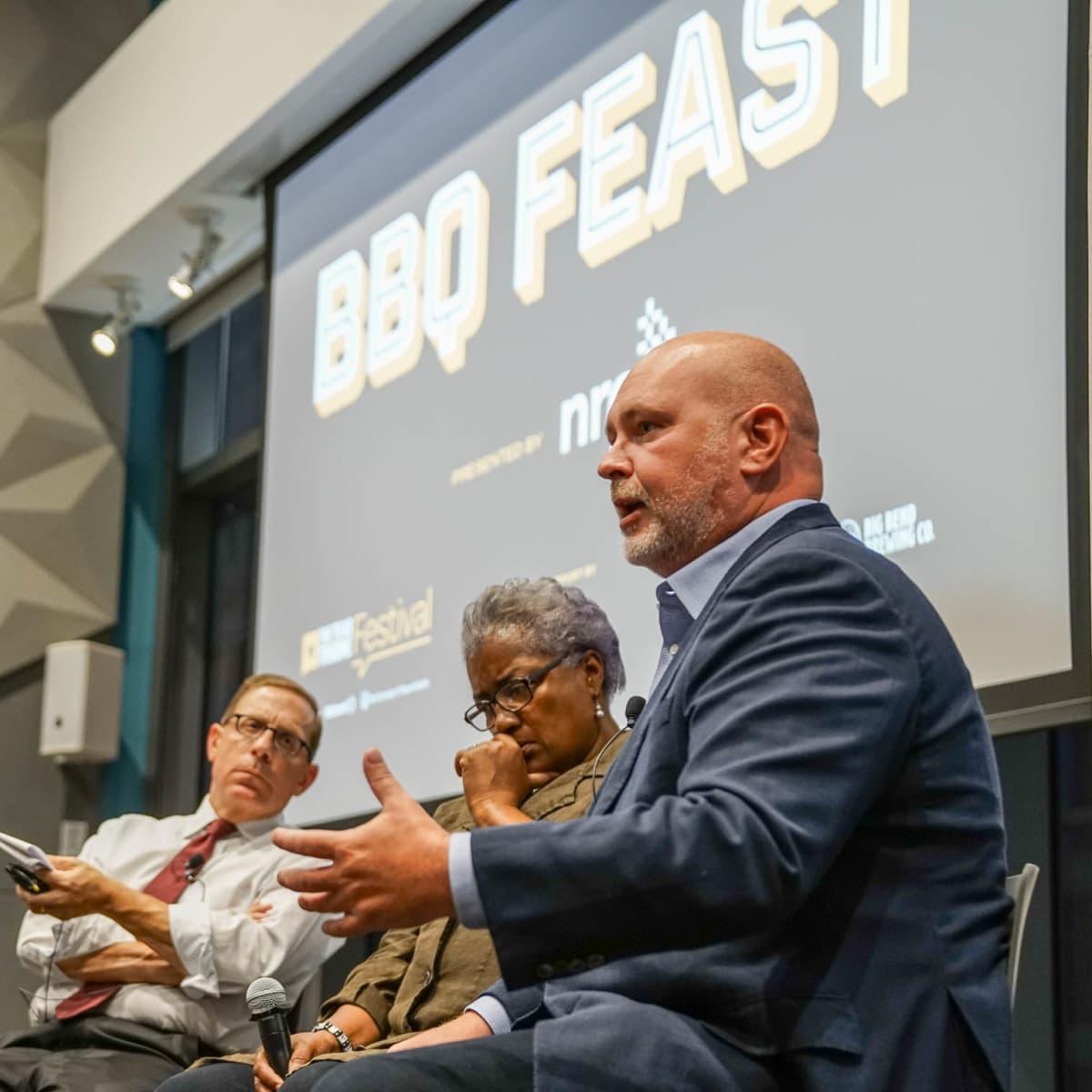 Texas Tribune Festival 2017 BBQ Feast at Google Evan Smith Donna Brazile Steve Schmidt