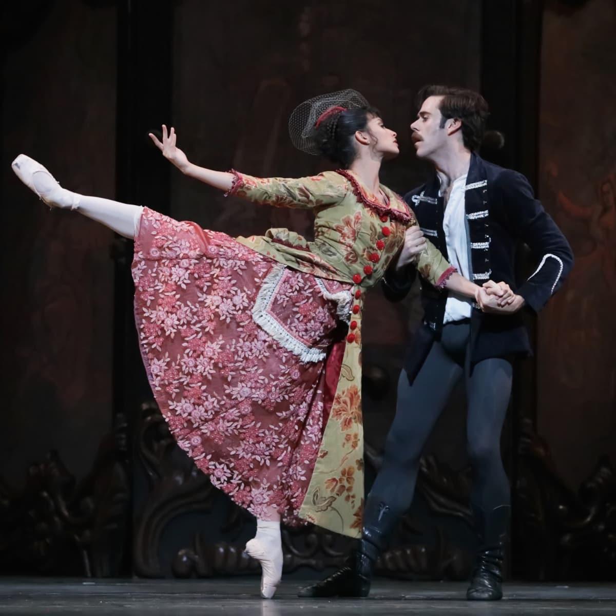 Houston Ballet Mayerling Karina Gonzalez as Baroness Mary Vetsera and Connor Walsh as Prince Rudolf