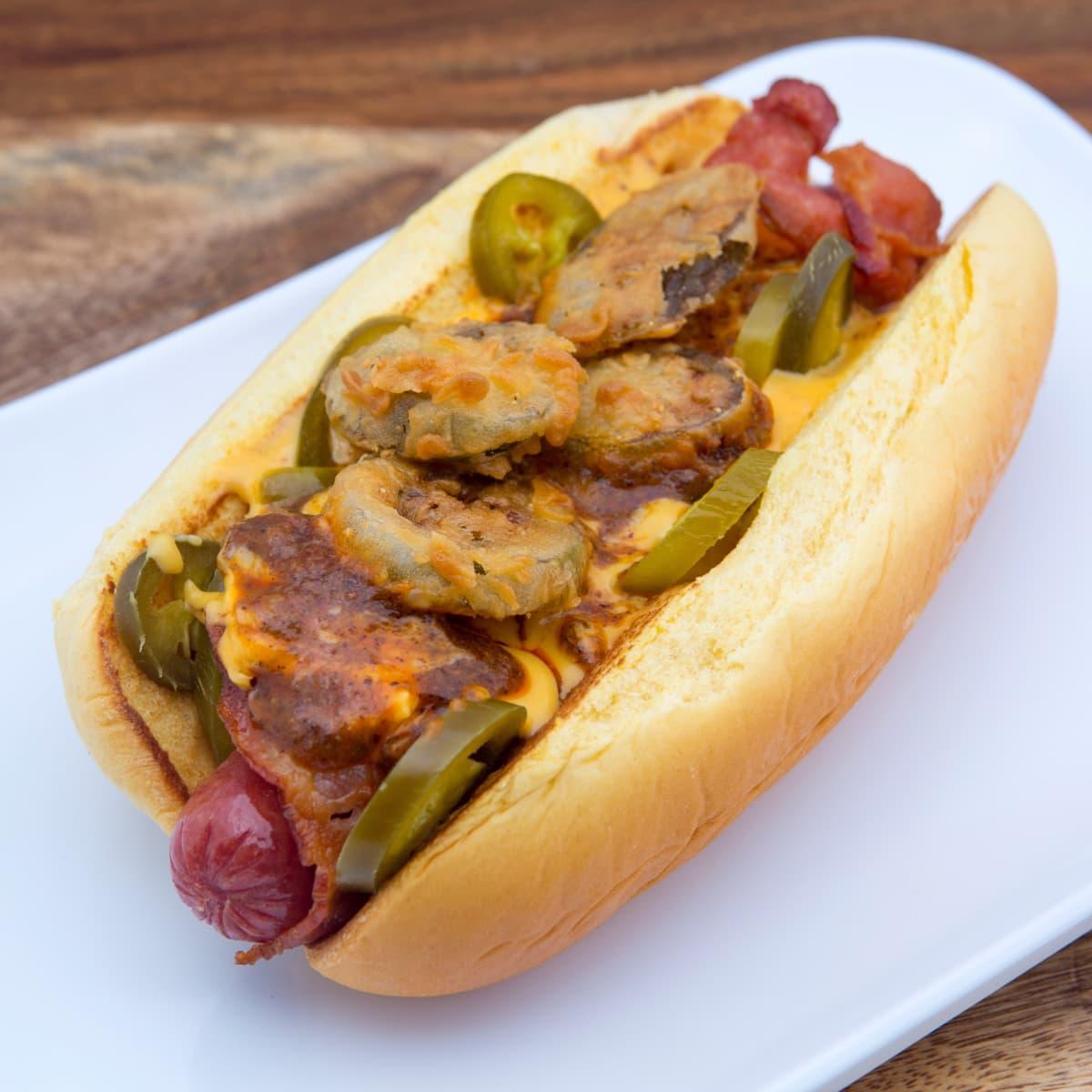 James Coney Island JCI Houston Dog, hot dog