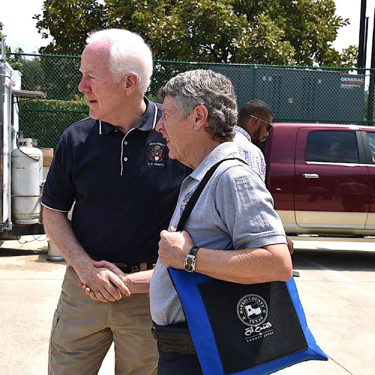 Houston news, Ed Emmett, John Cornyn, Sept 2017