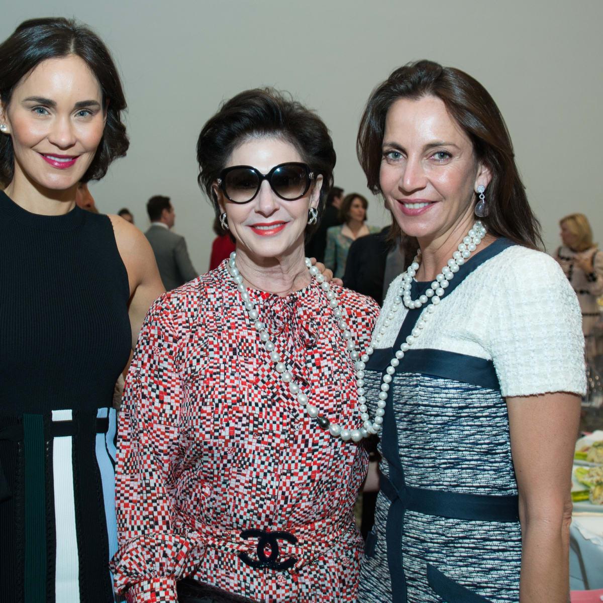 Laura Arnold, Elyse Lanier, Aliyya Stude at Oscar de la Renta fashion show at MFAH