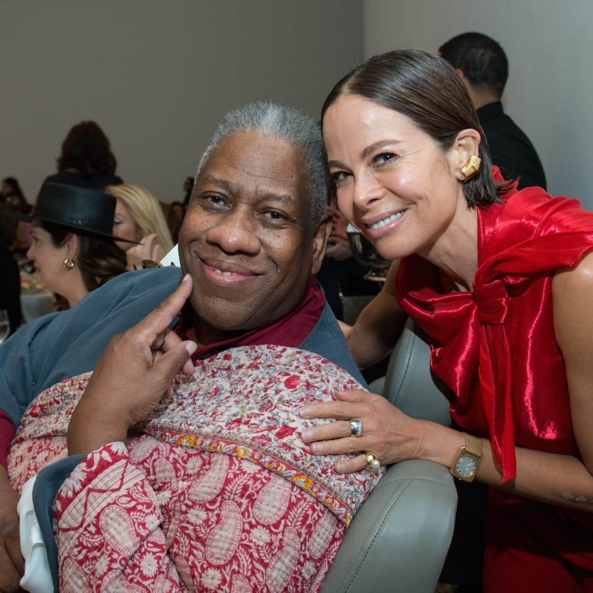 Andre Leon Talley, Allison Sarofim at Oscar de la Renta fashion show at MFAH
