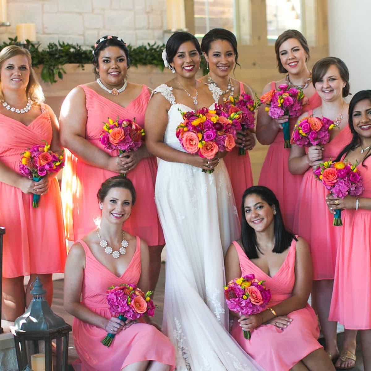 Siddiqui wedding, bridesmaids, Real Weddings 2017
