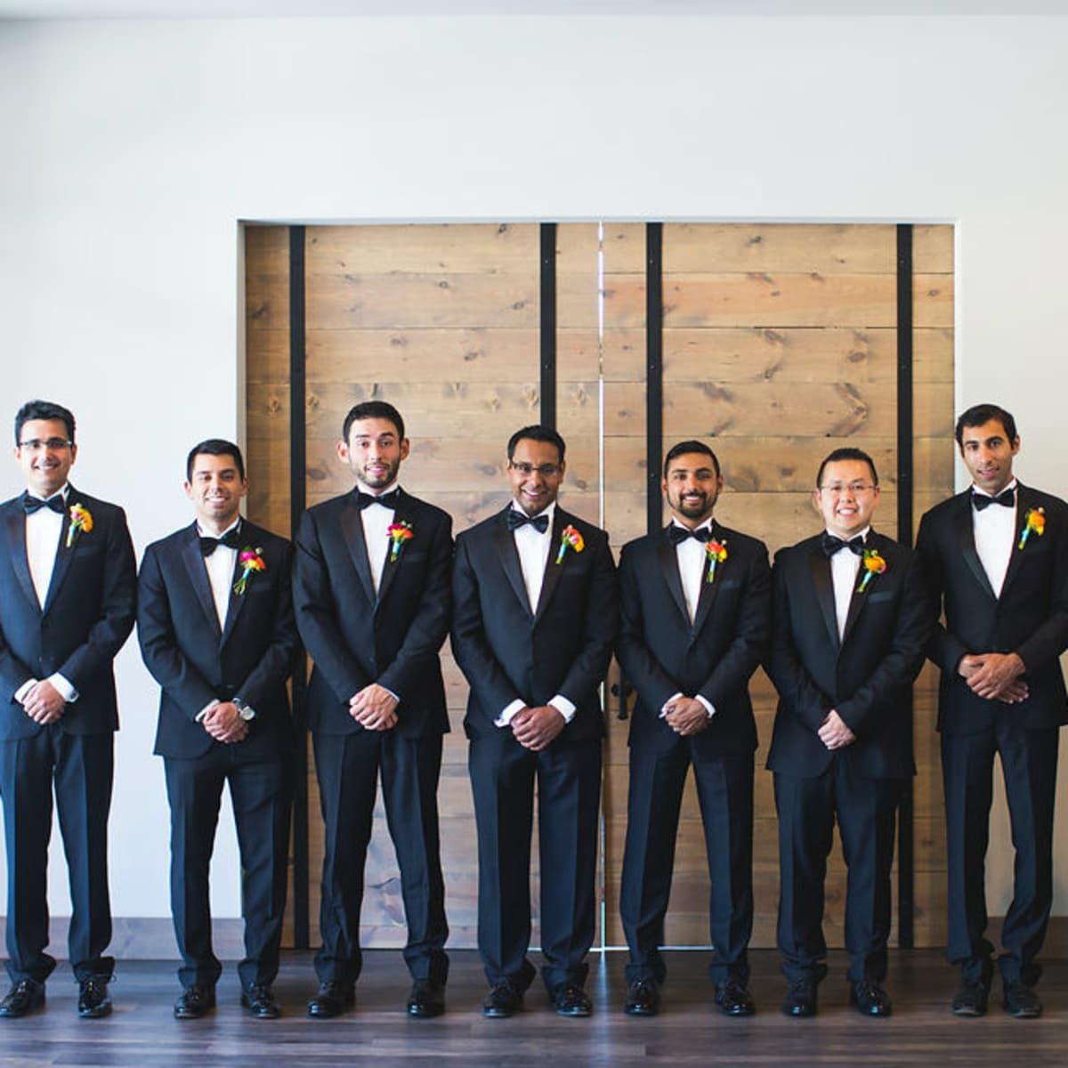 Siddiqui wedding, groomsmen, Real Weddings 2017