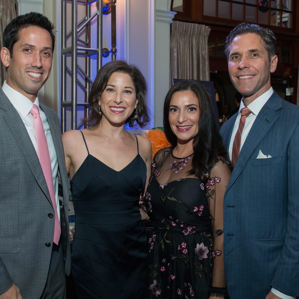 ug and Esther Freedman, Candace and Brian Thomas at AVDA Gala