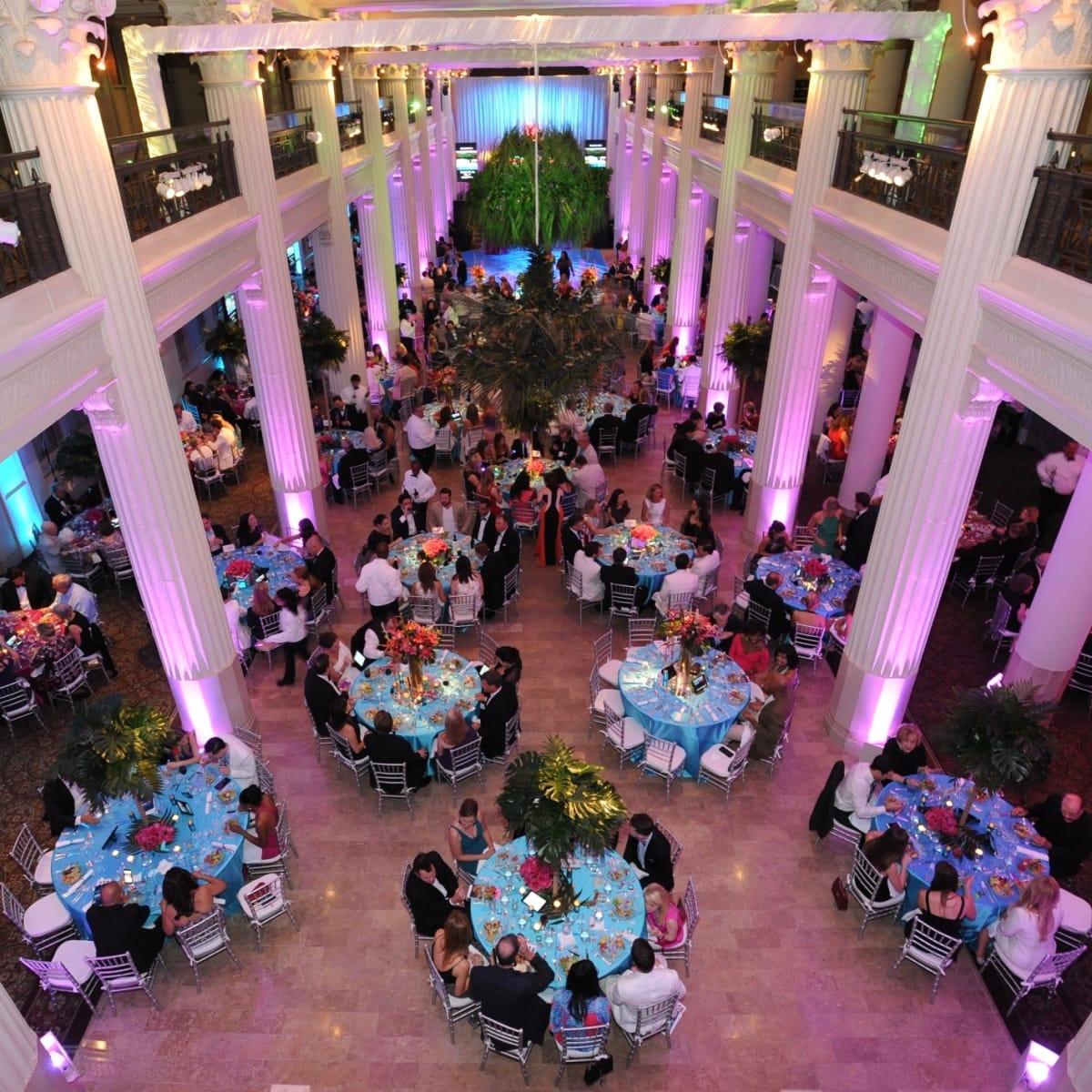 Decor at Miami Vice Children's Museum Gala