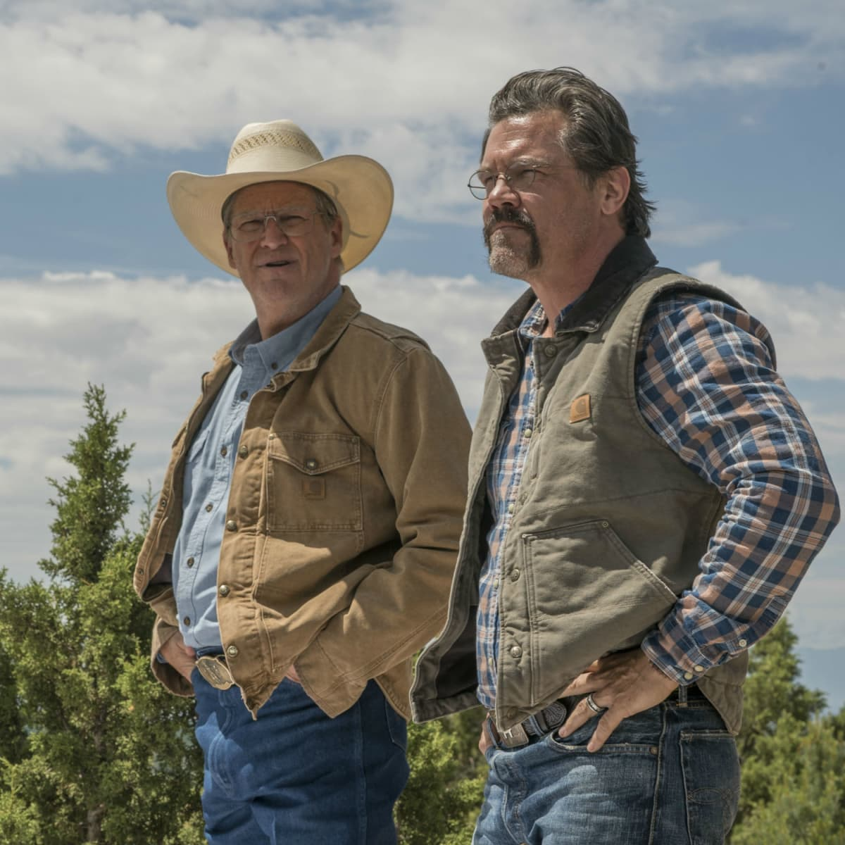 Jeff Bridges and Josh Brolin in Only the Brave