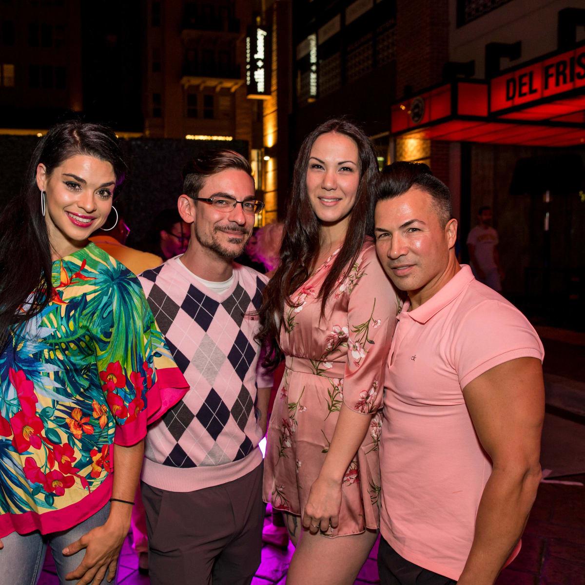 Houston, Marcy, West Ave Pink Party, October 2017, Shana Hand, Kaleb Duhon, Crys Williams, Randall Valentino Gonzalez