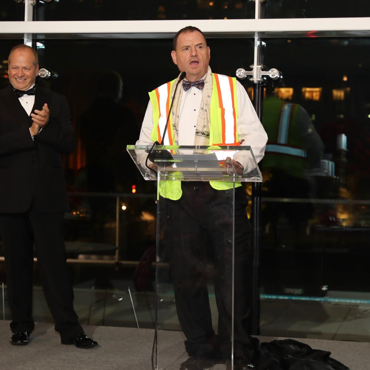 Patrick Summers, Perryn Leech at Houston Grand Opera opening night 2017