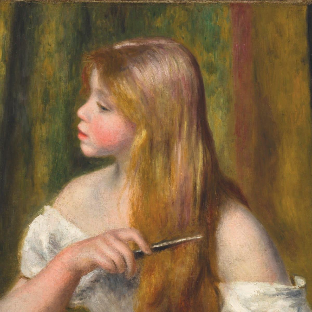 Renoir_Young Girl combing her hair