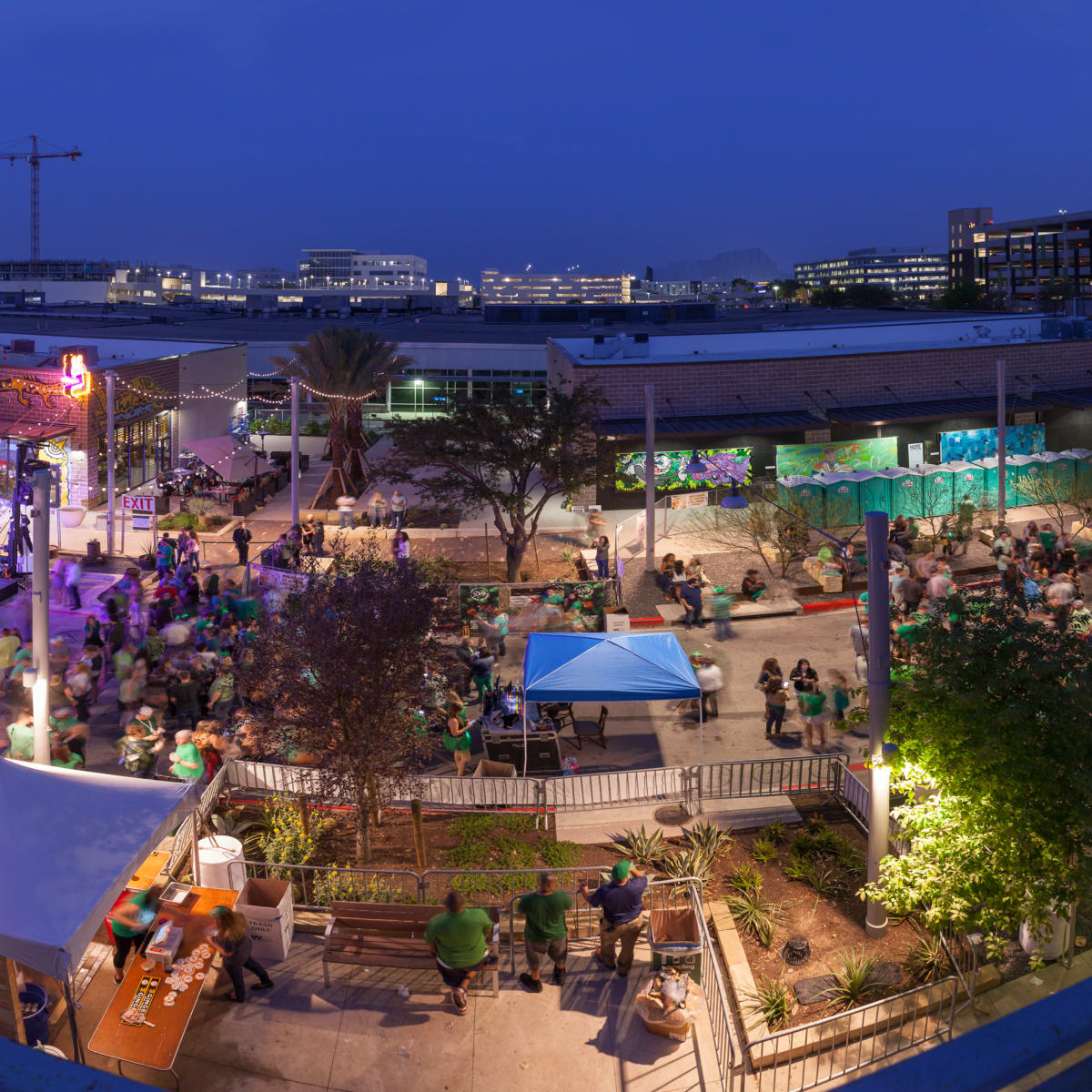 Rock Rose district street The Domain phase three Northside aerial event 2016