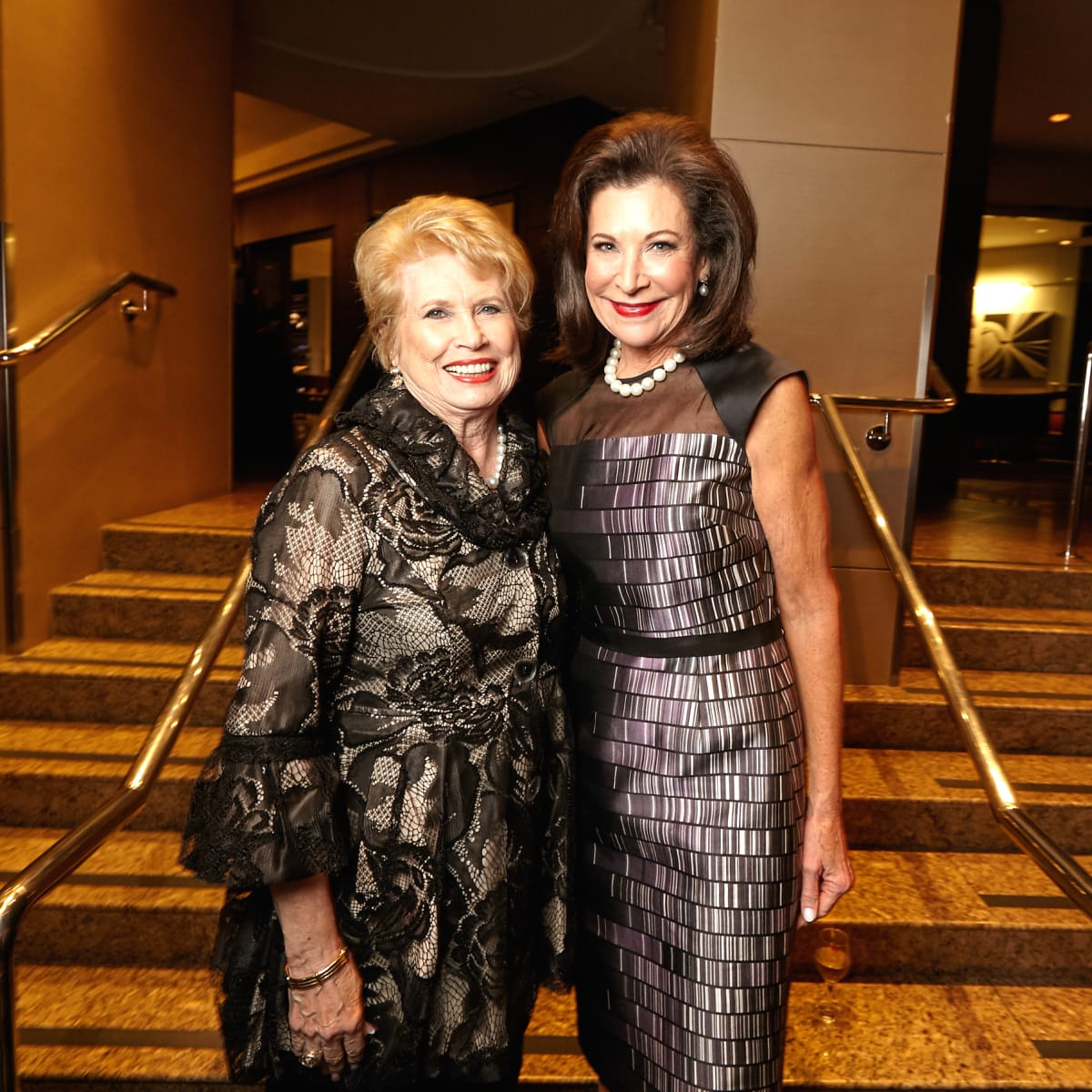 Houston, Bush Library Foundation dinner, November 2017, Ginger Blanton, Betty Hrncir