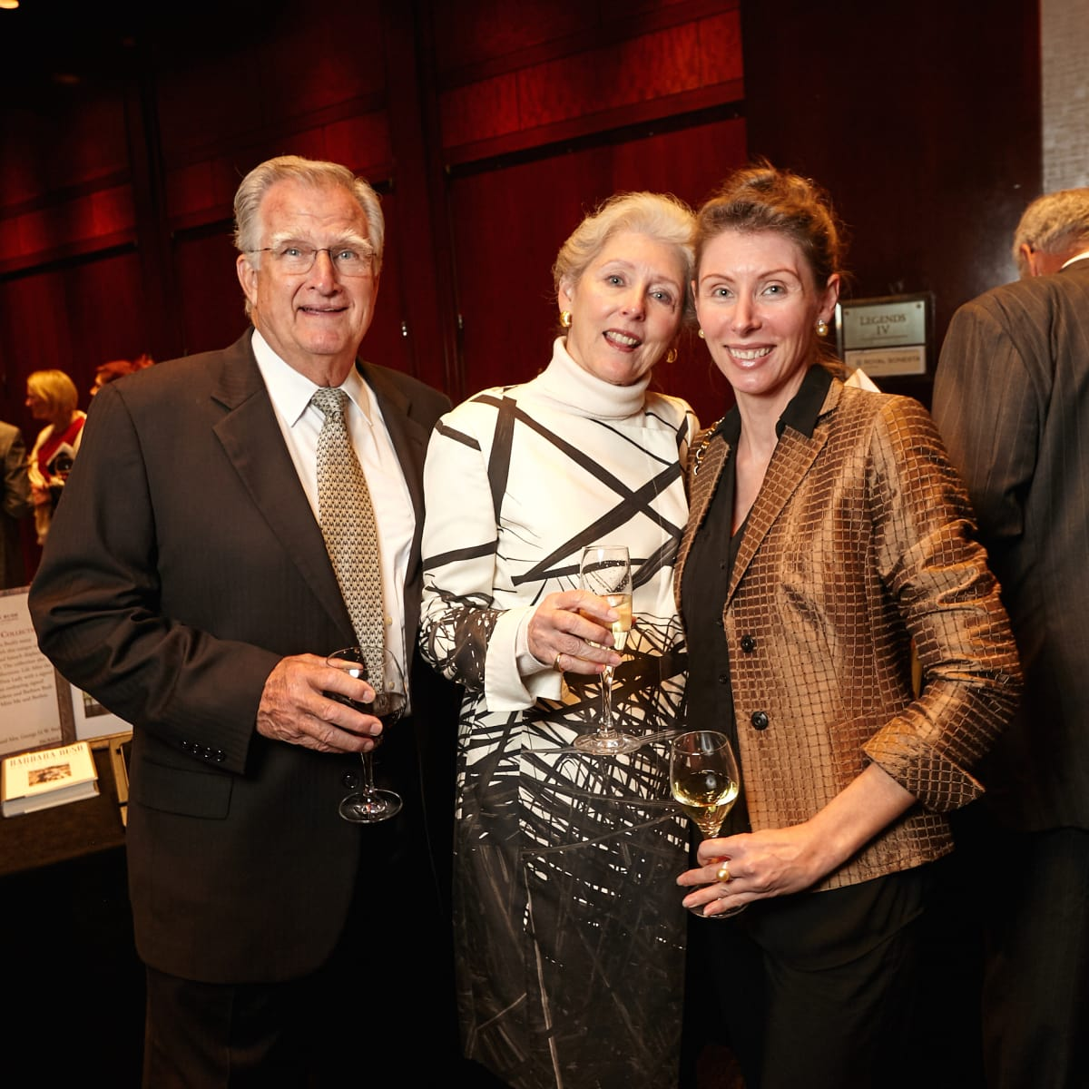 Houston, Bush Library Foundation dinner, November 2017, Jim Singleton, Stephanie Sale, Alexis Duprey