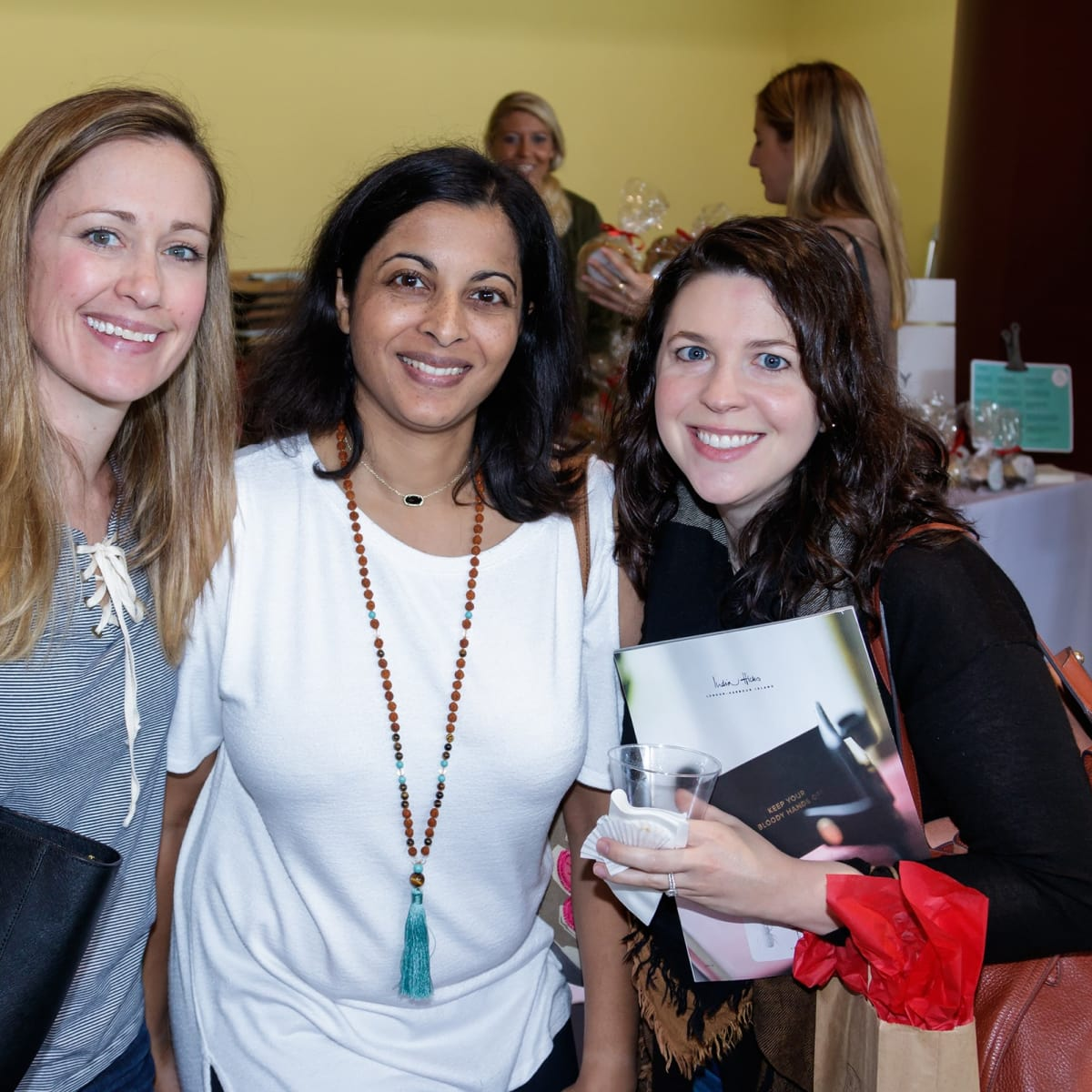 Sarah Raggio, Preeya Gemd, Meghan Demicco, 2017 CultureMap Dallas Holiday Pop-up