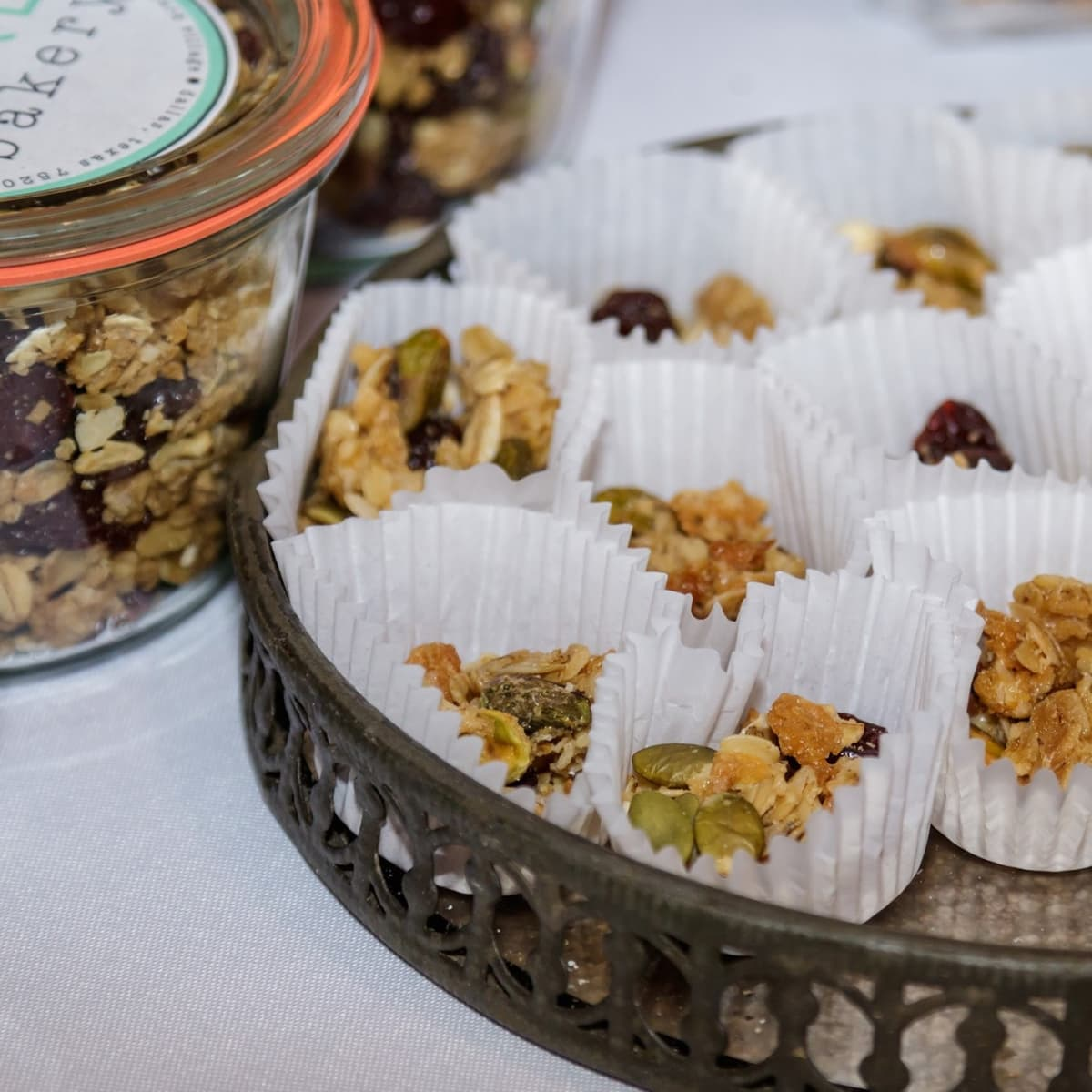 granola samples, Bird Bakery, 2017 CultureMap Dallas Holiday Pop-up