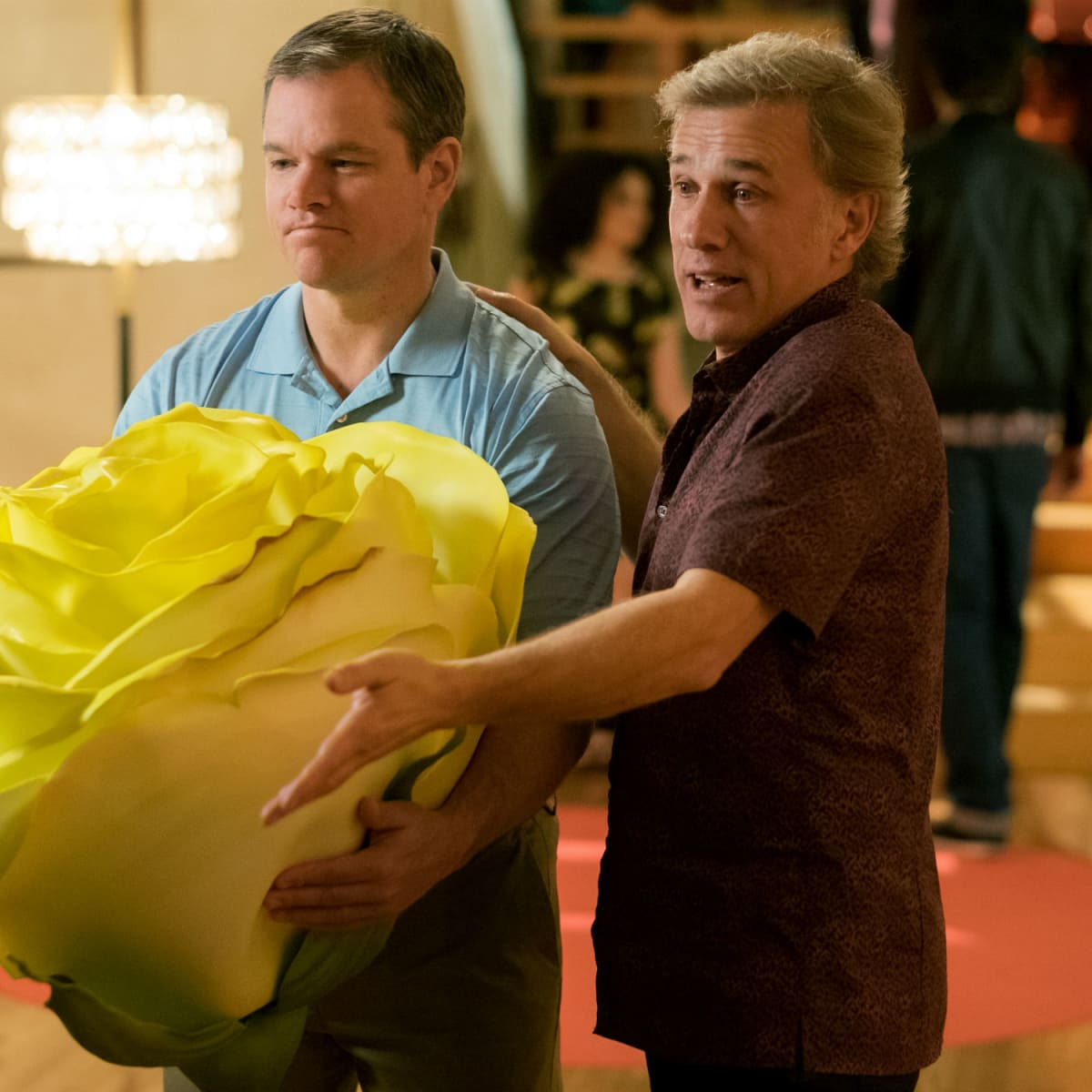 Matt Damon and Christoph Waltz in Downsizing