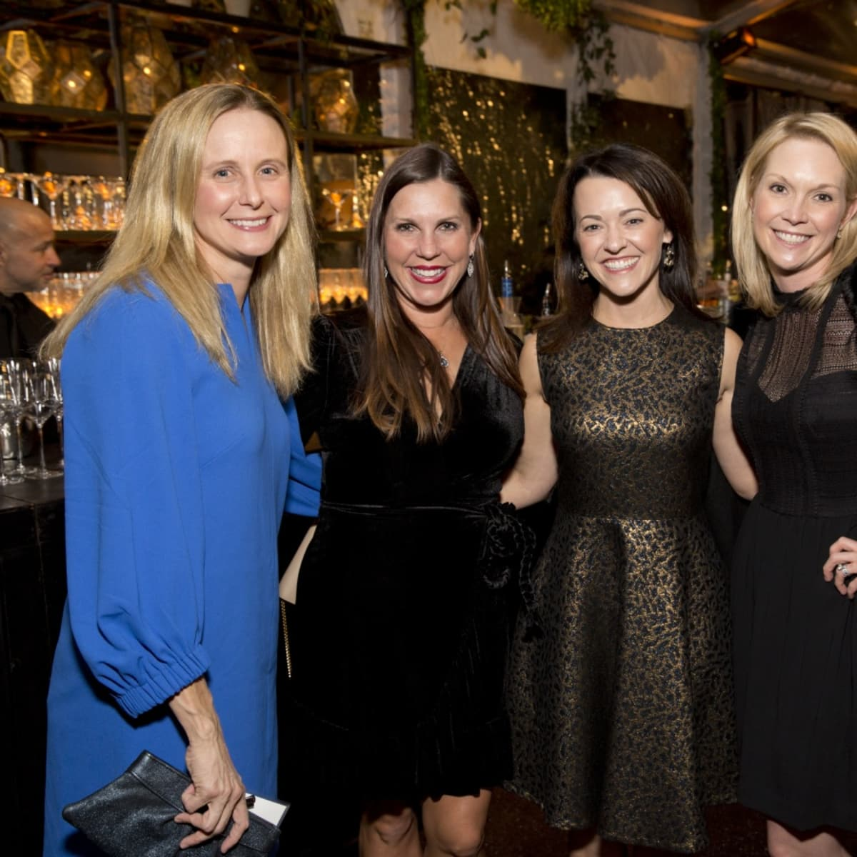 Houston, TCH Ambassadors holiday party, December 2017, Jenna Atwood, Jennifer Roberts, Chelsea Pacey, Staci Donovan