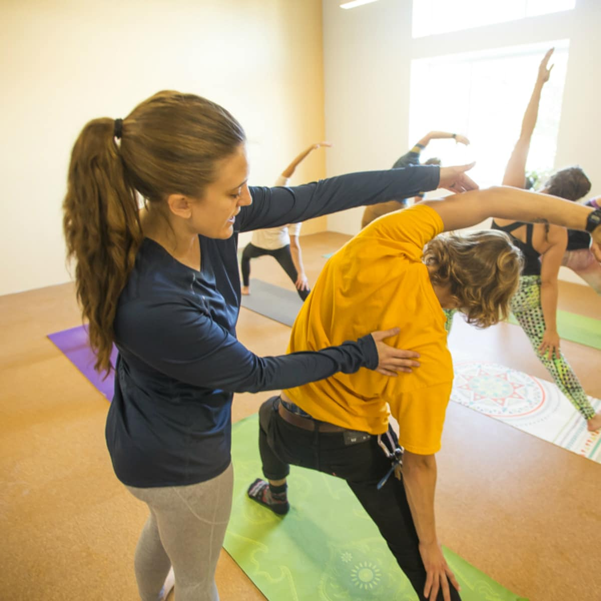 Houston Silver Street rock climbing yoga