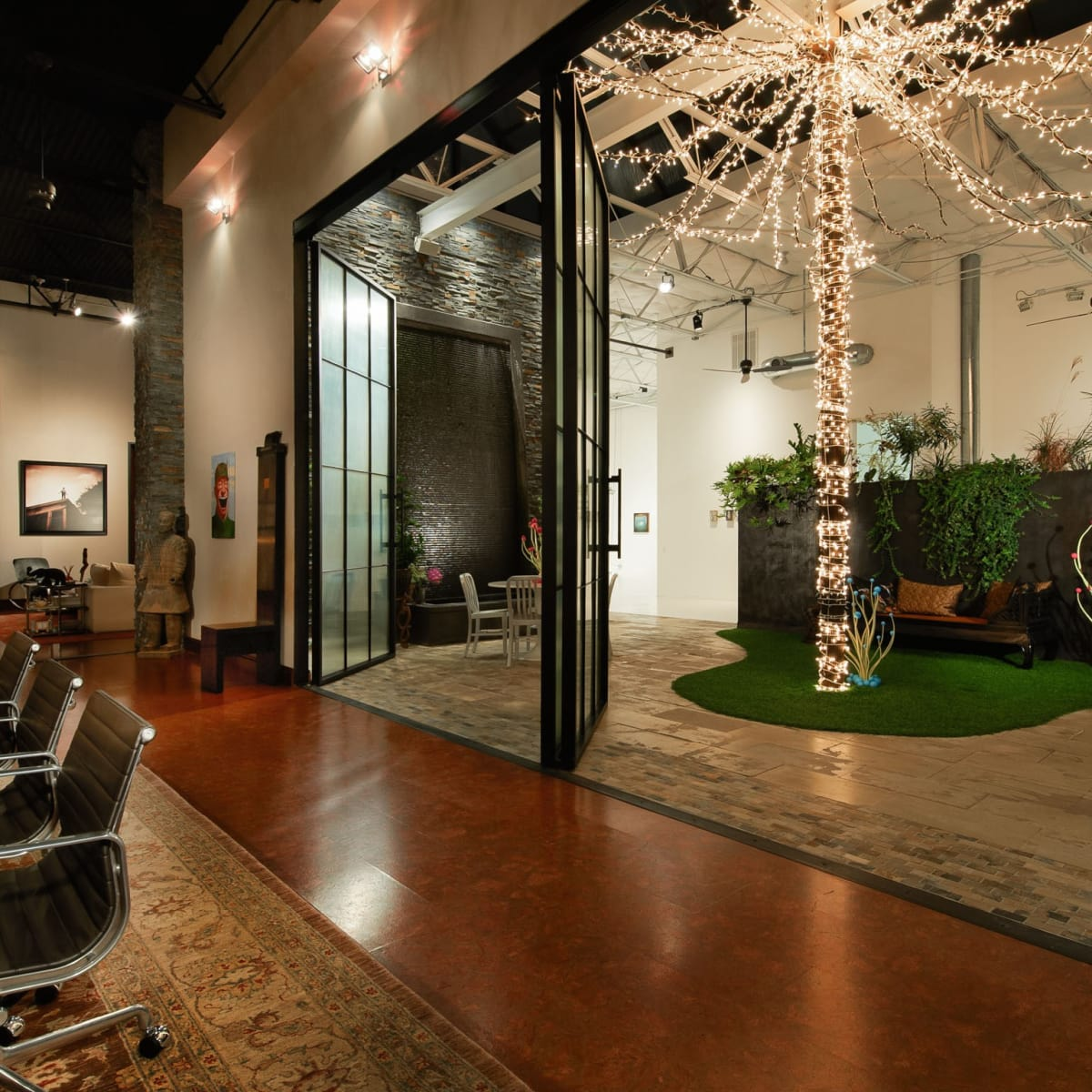 2278 Monitor Street, Dallas Design District warehouse, atrium