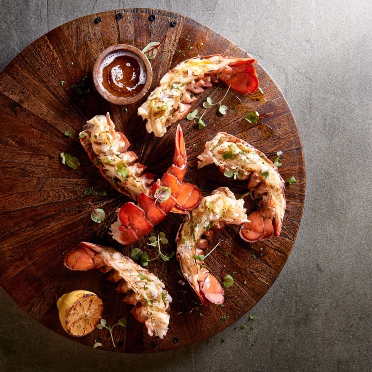 Willie G's The Post Oak grilled lobster tail