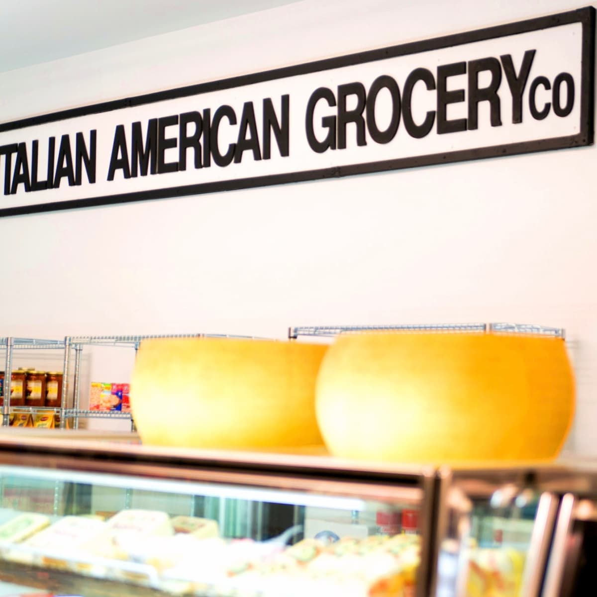 Italian American Grocery Heights internal sign