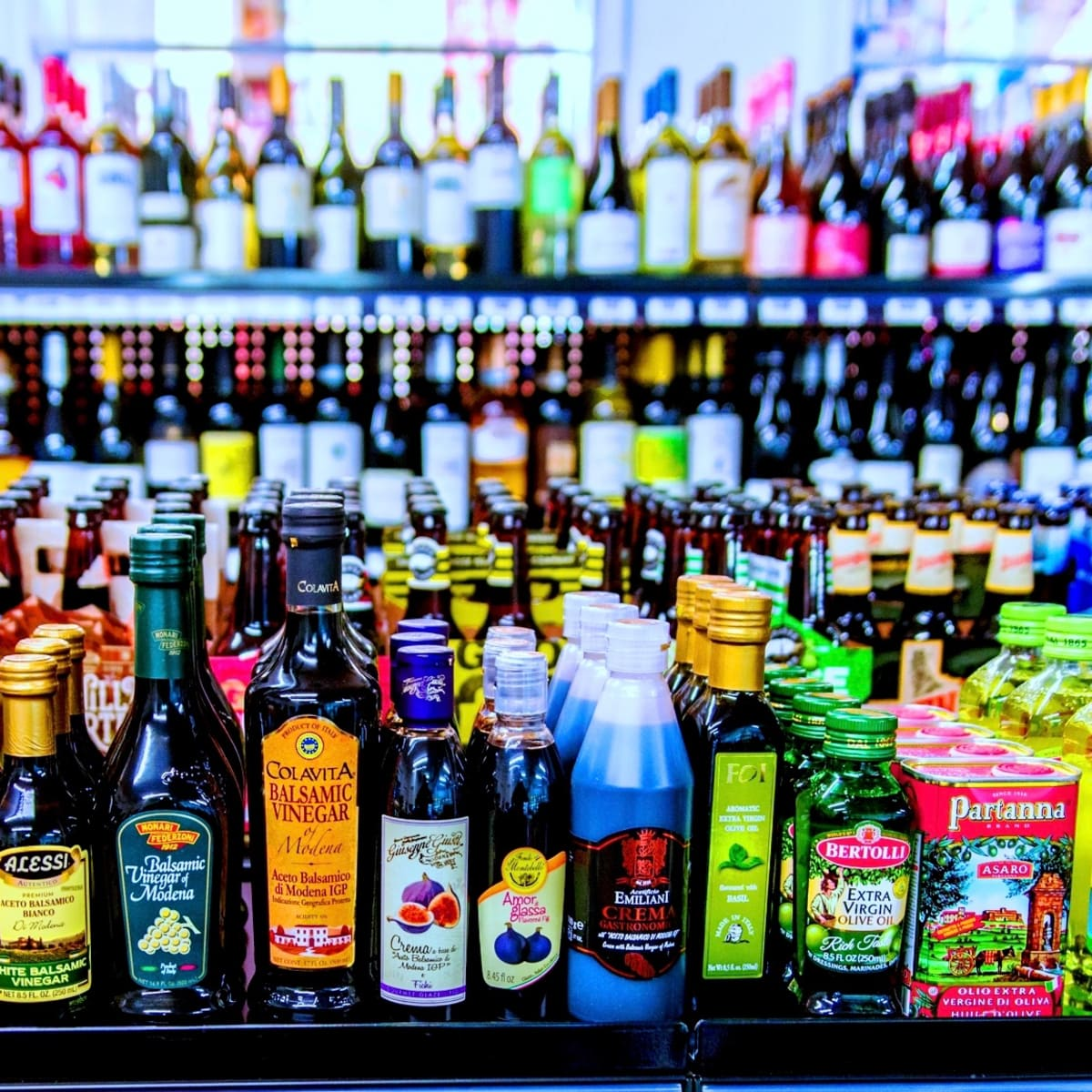 Italian American Grocery Heights vinegars and olive oil