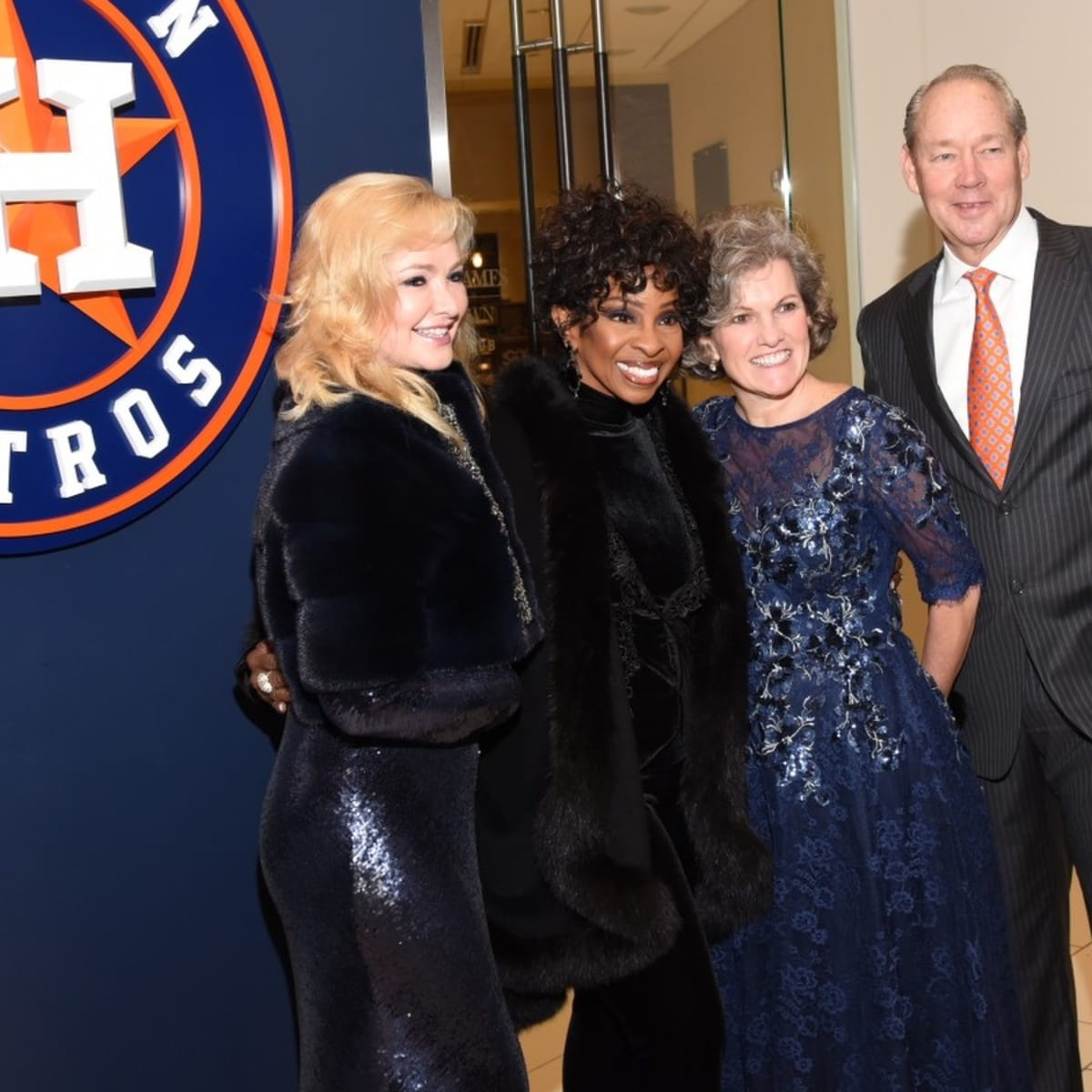 Houston, Diamond Dreams Astros Gala, January 2018, Whitney Crane, Gladys Knight, Twila Carter, Jim Crane