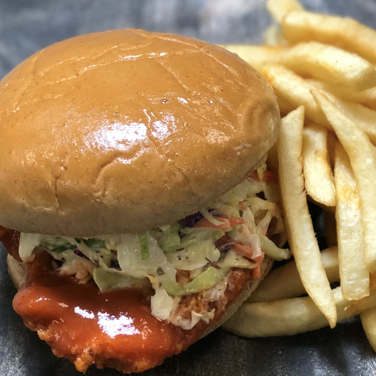 Toyota Center firecracker chicken sandwich