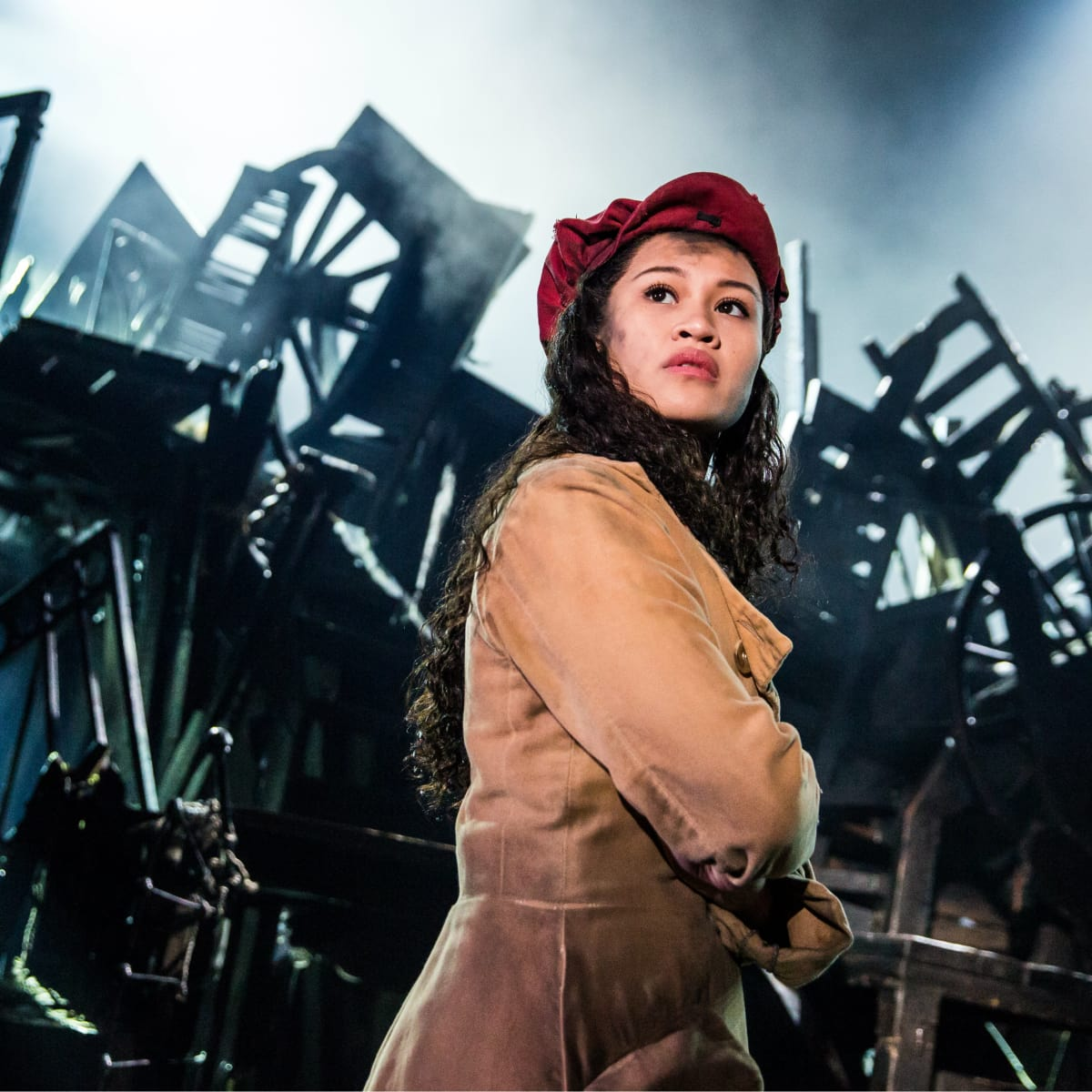 Emily Bautista as Eponine in the new national tour of Les Miserables