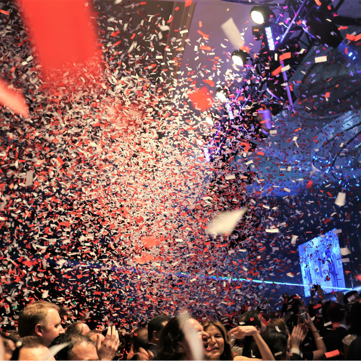 confetti shot Pitbull Children's Charity Gala