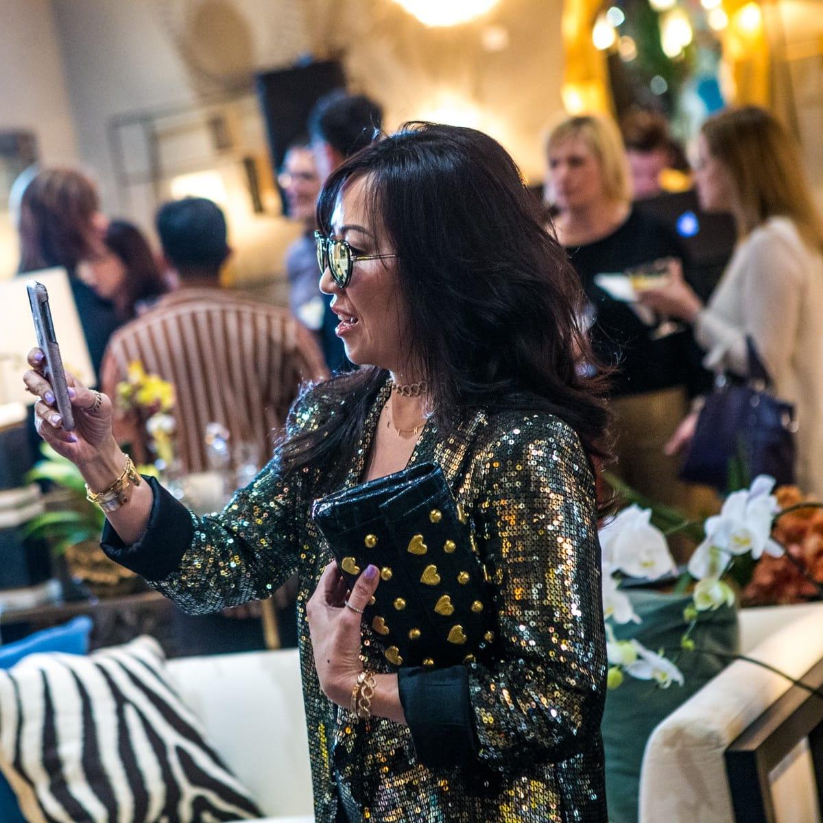 Tina Craig, BagSnob, Arteriors Party 2018